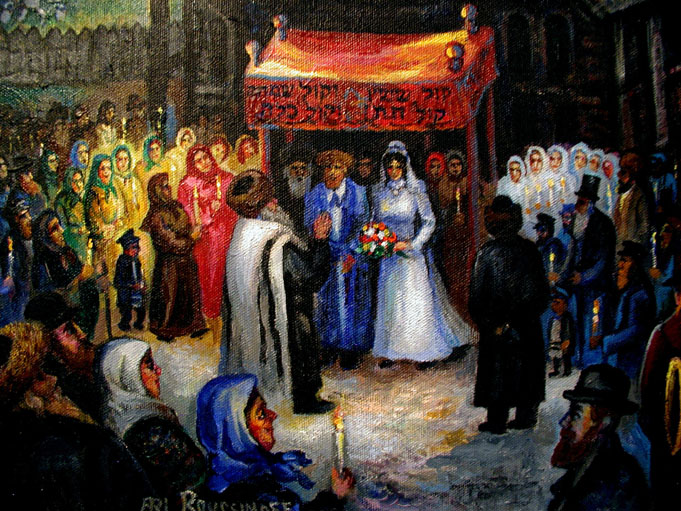 RICH MAGICAL COLORS THIS IS ONE OF THE MOST BEAUTIFUL DEPICTIONS A JEWISH WEDDING